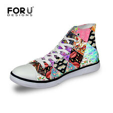 Fashion Lady's Womens Girls High Top Shoes Sneakers Casual Canvas Shoes Teens