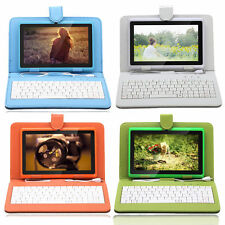 IRULU 7 inch Tablet PC Google Android 4.4 Quad Core Dual Cam 8GB Pad w/Keyboard