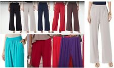 DG2 by Diane Gilman Stretch Knit Solid Palazzo Pant