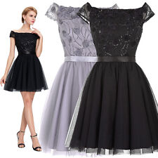 New Women's Tulle Party Evening Wedding Bridesmaid Prom Ball Short Dress Formal