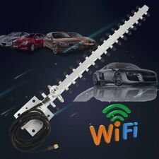 RP-SMA 2.4GHz 25 DBi Wireless WLAN WiFi Antenna For Yagi Modem PCI Card Route I5