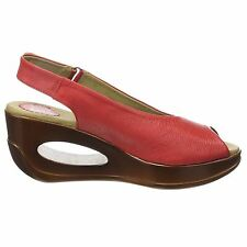 Fly London Hatt 680 Mousse Wedge Scarlet Womens Sandals