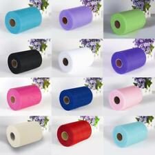 "6"" Tulle Rolls 100 Yards Cheap Tulle Fabric Wedding Party Gift Wrap Decoration"