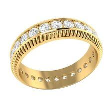 1.05 ct D/VSS1 Simulated Diamond 18k Solid Gold Full Eternity Wedding Band Ring