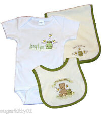 Personalized Baby Boy Onez Bib & Burp I Love Daddy-Honey Pot Design Free Ship