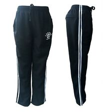 New Womens Track Pants Basic Casual Sports Gym Loose Fit Trackie Trousers Fleece