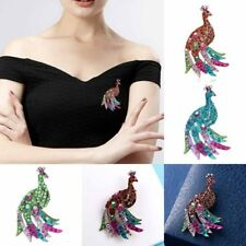 Fashion Wedding Women Peacock Crystal Rhinestone Brooch Pins Bouquet Jewelry New