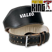 """VALEO 6"""" LEATHER LIFTING BELT LARGE BODYBUILDING WEIGHT BODY BUILDING COW HIDE"""