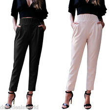 GAMISS Women Formal OL Harem Pants Pencil Casual Slim Fit Baggy Relaxed Trousers