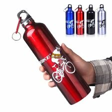 Aluminum Alloy Hydration Sports Bike Bicycle Water Bottle 750ml & Cage Holder
