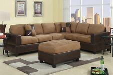 Sectional Sofa Microfiber Sofa couch Sectional Couch 2 Pc Living room Set #F7632