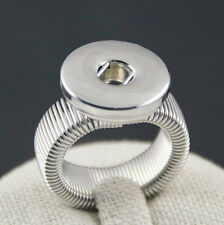 Wholesale Lots Adjustable Snaps Ring Fit 18mm snap chunk button B64-R
