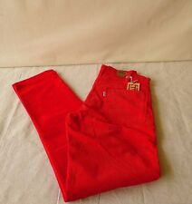 LEVIS VINTAGE CLASSIC  LVC 1975 519 RED TAPERED CORDUROY  PANTS (SEE SIZES)