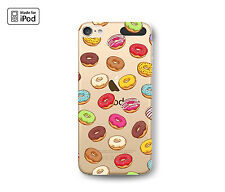 Doughnut Pattern Donuts Awesome Fun Clear Rubber Case for iPod Touch 6th 5th Gen