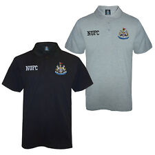 Newcastle United FC Official Football Gift Mens Crest Polo Shirt