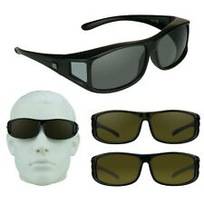 Barricade RX Fit Over Sunglasses Large POLARIZED Smoke Brown Lens Driving Riding
