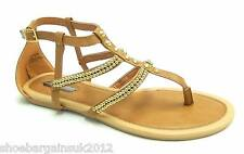 Womens New Dorothy Perkins Tan Brown Gladiator Buckle Strap Sandals Shoes UK 4-7