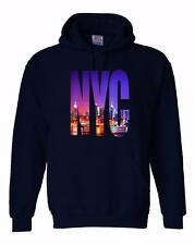 NEW MEN PRINTED NYC NEW YORK CITY HIPSTER HOODED JACKET PULLOVER HOODIE ALL SIZE