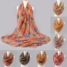 Fashion Women Scarf Long Voile Multi-Color Scarf Chiffon Silk Wrap Shawl Scarves