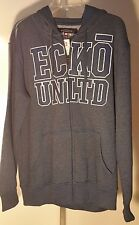 ECKO UNLTD. HOODIE MEN'S ZIP-UP LOGO COTTON/POLY HOODIE NEW