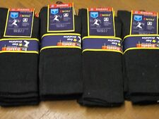 mens diabetic BLACK cotton Easy Circulation crew sock size 10-13 shoe size 8 -12