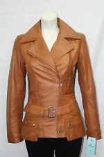 Ladies Short 2812 Fitted Thigh Length Soft Nappa (Lambskin) Real Leather jackets