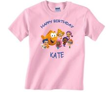 Bubble Guppies Personalized Custom Happy Birthday Shirt in 8 Different Colors