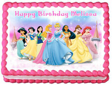 PRINCESS Birthday Edible image Cake topper decoration