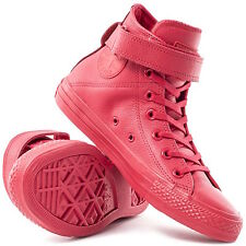 Converse All Star® 551584C RED LEATHER TRAINERS Sneakers HI TOP Sz 7 WOMEN'S NEW