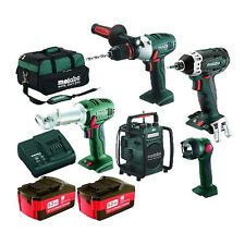 Metabo 18v Li-ion 5 Piece Cordless  Combo Kit MET502 3 Year Warranty