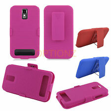 Rugged Case with Belt Clip Holster for SAMSUNG GALAXY S2 S 2 II HERCULES T989