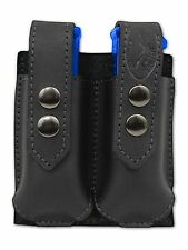 NEW Barsony Black Leather Double Magazine Pouch Astra Beretta Compact 9mm 40 45