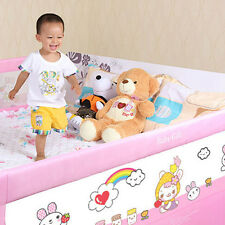 Safety Infant Sleep Guard Rail Cartoon Folding Baby Bed Rail Bedside Protector