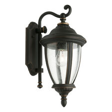 Wall Light Outdoor Bronze or Pewter E27 in 40cm Oxford Cougar Lighting