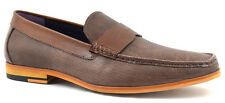Gucinari JT 003-51 Leather Men Brown Loafers