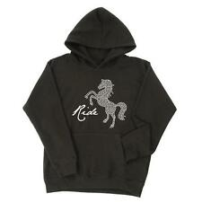 New Carrots Equestrian Ladies Sparkle Rearing Horse Hoody - Black Size 12