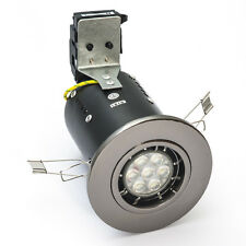 FIRE RATED 7 WATT LED DOWNLIGHT 240V MAINS GU10 FIXED DIE CAST 7W / 7W DIMMABLE
