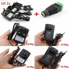 DC AC 110-240V 12V 2A POWER SUPPLY ADAPTER CHARGER FOR 3528 5050 LED STRIPS