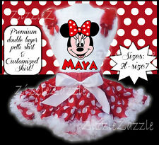 Minnie Mouse Inspired Custom Birthday Party Outfit Pettiskirt tutu Ruffle Shirt