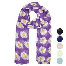 Fashion Women Scarf Summer Floral Voile Long Scarf Wrap Shawl Stole Soft Scarves