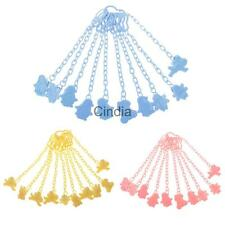 10pcs Baby Pacifier Soother Chain Clip Holder Cute Pacifier Clip