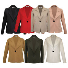 Womens Ladies One Button Long Sleeve Blazer/ Jacket