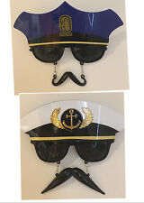 Adult Unisex Party Glasses Policeman Captain Costume Fancy Dress Up Party Supply