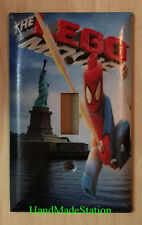 Lego Spiderman in NYC Liberty Light Switch Duplex Power Outlet Cover Plate Decor