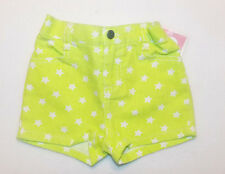 Circo Toddler Girls Neon Yellow Denim Shorts Size 24 Months NWT