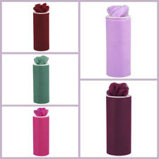 """6"""" x 75 feet Wedding Tulle Roll for Favors Pew Bows Decorations SALE"""