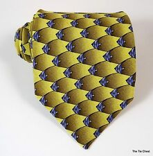 Tropical Fish Silk Tie Ties to Nature Small Scale Pattern Necktie