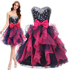 Beaded Homecoming Quinceanera Evening Ballgown Party Bridesmaid Short Prom Dress