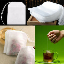 200X non-woven Empty Teabags String Heat Seal Filter Paper Herb Loose Tea Bag