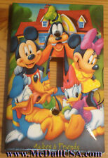 Mickey Minnie Donald Duck Light Switch Power Outlet Cover Plate Home decor